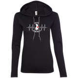 THE PIT OF MY HEART - White/Red - Premium Ladies Pit Bull Hoodie - Save Adopt Love Apparel