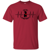 THE PIT OF MY HEART - Black/Red - Unisex Pit Bull T-Shirt - Save Adopt Love Apparel