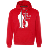 PROUD PIT BULL PAPA - Solid White - Pit Bull Men's Heavyweight Pullover Sweatshirt Hoodie - Save Adopt Love Apparel