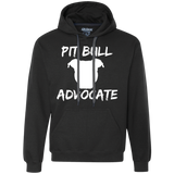 PIT BULL ADVOCATE - Solid White - Pit Bull Heavyweight Pullover Sweatshirt Hoodie - Save Adopt Love Apparel