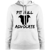 PIT BULL ADVOCATE - Solid Black - Ladies Pit Bull Pullover Sweatshirt Hoodie - Save Adopt Love Apparel
