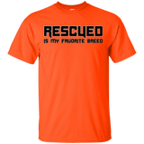 RESCUED IS MY FAVORITE BREED - Black - Unisex T-Shirt - Save Adopt Love Apparel