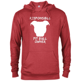 RESPONSIBLE PIT BULL OWNER - White - Premium Preshrunk French Terry Blend Fleece Pit Bull Hoodie - Save Adopt Love Apparel