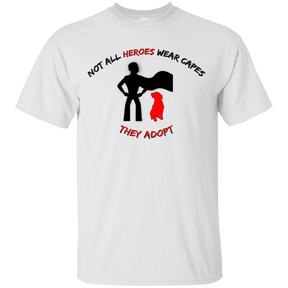 HEROES ADOPT - Black/Red - Pit Bull Adoption Unisex T-Shirt - Save Adopt Love Apparel