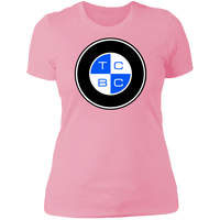 TCBC - Next Level Ladies' Boyfriend Premium T-Shirt (Front Blue Logo)