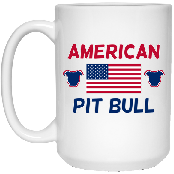 American Pit Bull 15 oz. White Mug - Save Adopt Love Apparel