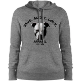 SAVE. ADOPT. LOVE. APPAREL - Black - Ladies Pit Bull Pullover Sweatshirt Hoodie - Save Adopt Love Apparel
