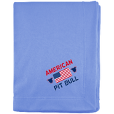 American Pit Bull Embroidered Sweatshirt Blanket - Save Adopt Love Apparel