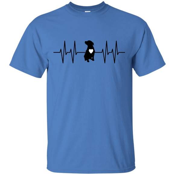 HEARTBEAT - Black/White - Unisex Pit Bull T-Shirt - Save Adopt Love Apparel