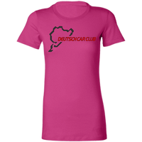 Deutsch Car Club - Bella + Canvas Ladies' Fit Favorite Slim Cut T-Shirt (front logo)