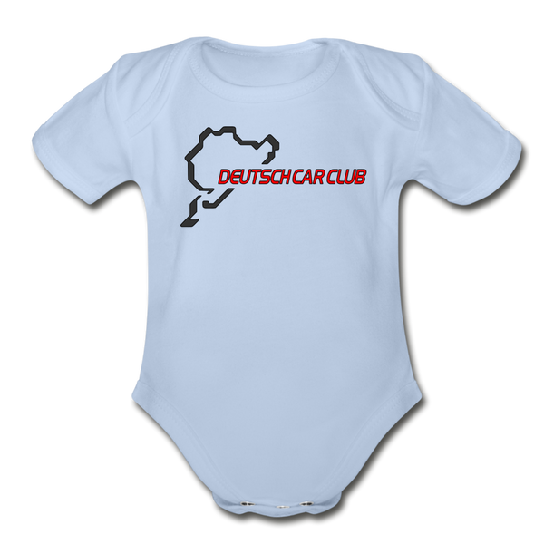 1 DEUTSCH CAR CLUB - Organic Short Sleeve Baby Bodysuit 3305 - sky
