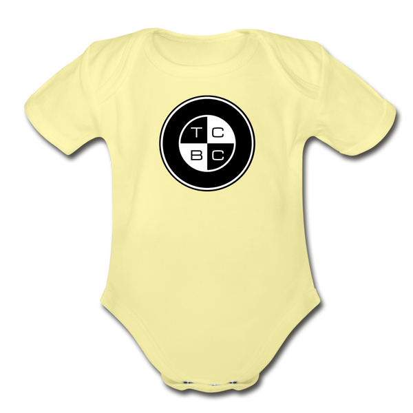 TCBC - Organic Short Sleeve Baby Bodysuit Onesie - washed yellow
