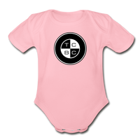 TCBC - Organic Short Sleeve Baby Bodysuit Onesie - light pink