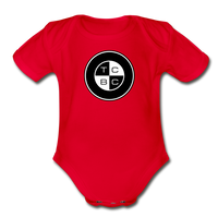 TCBC - Organic Short Sleeve Baby Bodysuit Onesie - red