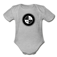 TCBC - Organic Short Sleeve Baby Bodysuit Onesie - heather gray