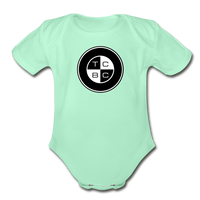 TCBC - Organic Short Sleeve Baby Bodysuit Onesie - light mint
