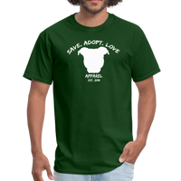 SAVE. ADOPT. LOVE. APPAREL - Unisex Pit Bull T-Shirt - forest green
