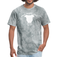 SAVE. ADOPT. LOVE. APPAREL - Unisex Pit Bull T-Shirt - grey tie dye