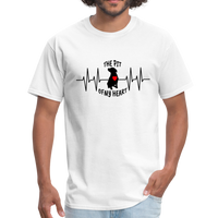 THE PIT OF MY HEART Unisex T-Shirt Black - white