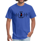 THE PIT OF MY HEART Unisex T-Shirt Black - royal blue