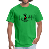 THE PIT OF MY HEART Unisex T-Shirt Black - bright green