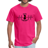 THE PIT OF MY HEART Unisex T-Shirt Black - fuchsia