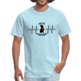 THE PIT OF MY HEART Unisex T-Shirt Black - powder blue