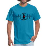 THE PIT OF MY HEART Unisex T-Shirt Black - turquoise