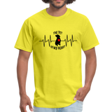 THE PIT OF MY HEART Unisex T-Shirt Black - yellow