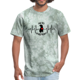 THE PIT OF MY HEART Unisex T-Shirt Black - military green tie dye