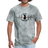 THE PIT OF MY HEART Unisex T-Shirt Black - grey tie dye