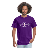 """THE PIT OF MY HEART"" Pit Bull Unisex T-Shirt - purple"
