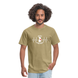"""THE PIT OF MY HEART"" Pit Bull Unisex T-Shirt - khaki"