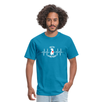 """THE PIT OF MY HEART"" Pit Bull Unisex T-Shirt - turquoise"