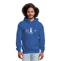 "THE ORIGINAL ""THE PIT OF MY HEART"" Unisex Pullover Pit Bull Hoodie - royal blue"
