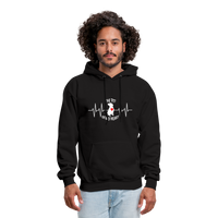 "THE ORIGINAL ""THE PIT OF MY HEART"" Unisex Pullover Pit Bull Hoodie - black"