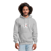 "THE ORIGINAL ""THE PIT OF MY HEART"" Unisex Pullover Pit Bull Hoodie - heather gray"