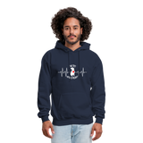 "THE ORIGINAL ""THE PIT OF MY HEART"" Unisex Pullover Pit Bull Hoodie - navy"