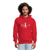 "THE ORIGINAL ""THE PIT OF MY HEART"" Unisex Pullover Pit Bull Hoodie - red"