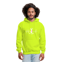 "THE ORIGINAL ""THE PIT OF MY HEART"" Unisex Pullover Pit Bull Hoodie - safety green"