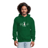 "THE ORIGINAL ""THE PIT OF MY HEART"" Unisex Pullover Pit Bull Hoodie - forest green"