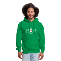 "THE ORIGINAL ""THE PIT OF MY HEART"" Unisex Pullover Pit Bull Hoodie - kelly green"