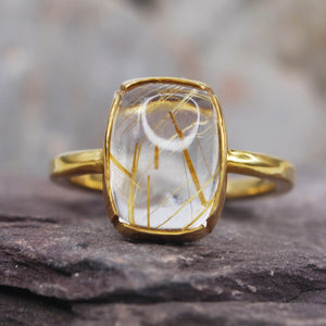 Rutilated Quartz Ring R2