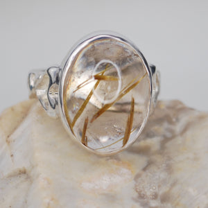 Rutilated Quartz Ring XL