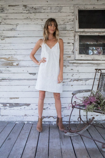 Moondance Embroidered Mini Dress