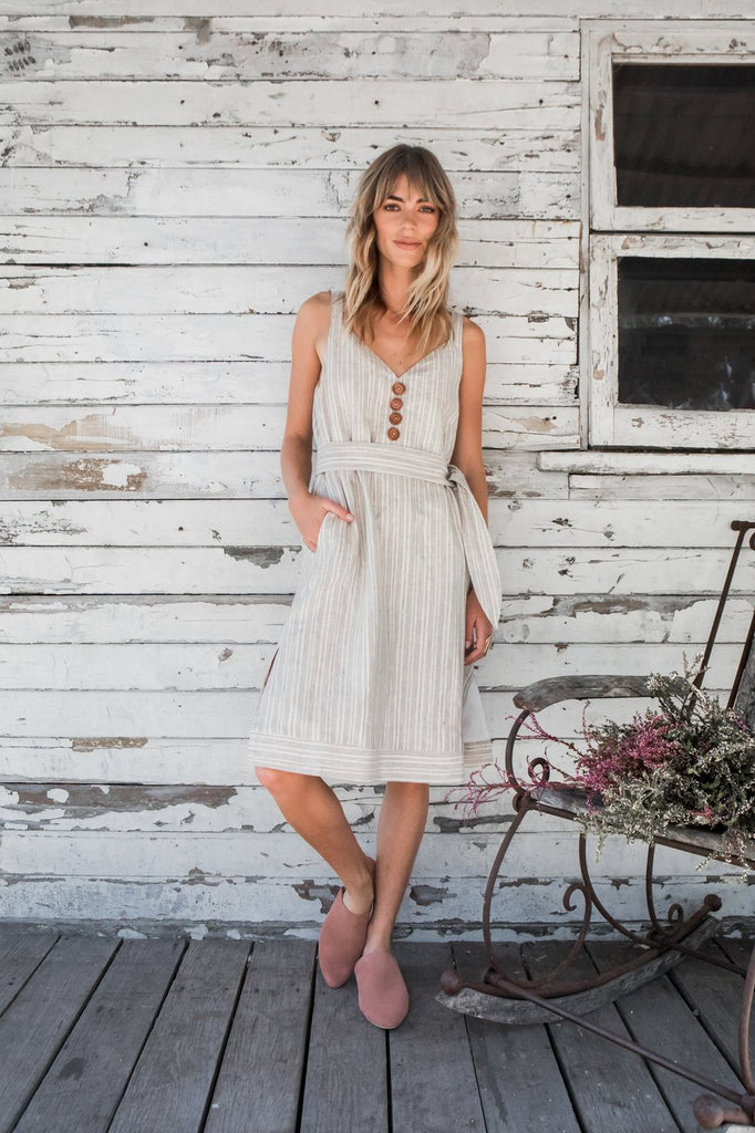 Twilight Midi Linen Dress