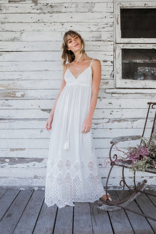 Featherstone Lace Maxi White