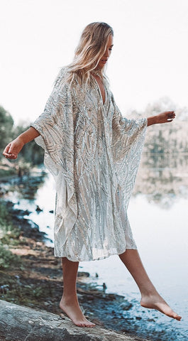 Charms of Light Sequin Kimono