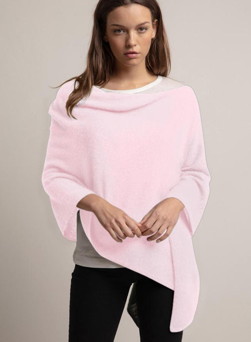 Cashmere Ruana in Pink Diamond