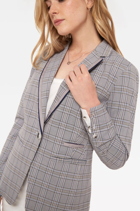 The Casual Jacket in Glen Plaid